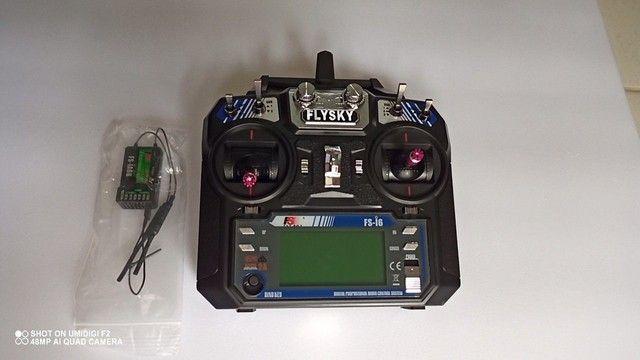 Aeromodelo Rádio Flysky Fs-i6 + RX Novo na Caixa