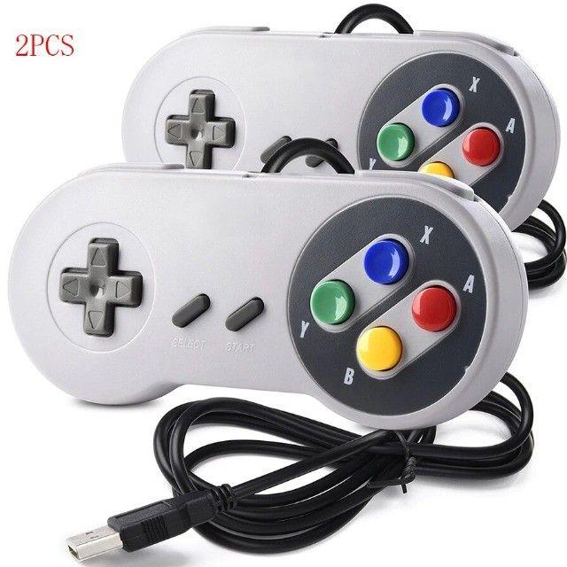 2 controles retro Super Nintendo USB, Tv Box, Celular, Pc (entregamos)