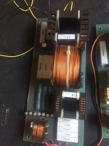 Dóis divisores de frequência monitor Staner Stage 212T, crossover passivo - Foto 4