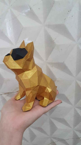Bulldog Geométrico Decoração - Foto 3