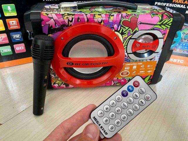 Caixa de Som URBAN SOUND 1500 W de potência! Bluetooth, Microfone e Controle Remoto - Foto 3