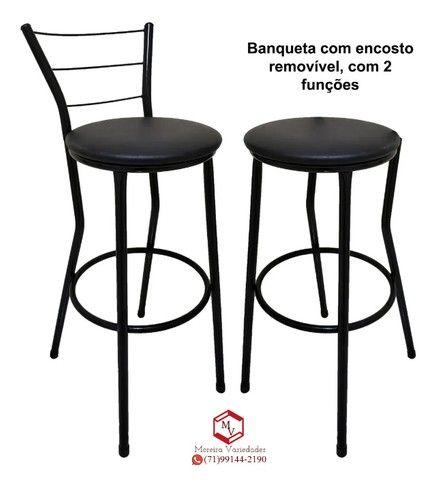 Banqueta Alta entrega em domicilio (produto novo loja virtual)  - Foto 3