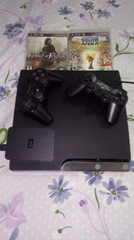 Playstation 3 slim com Hd externo com 43 jogos