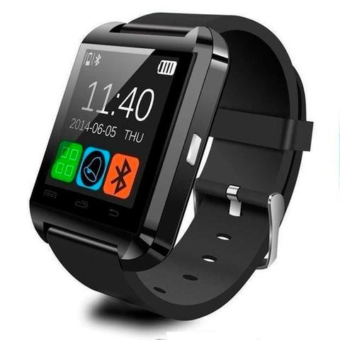 710fe0b2008 Relogio Bluetooth Chip GSM Smart Watch U8 Android Iphone 5 6 S5 Note ...