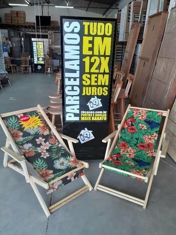 Cadeira Preguiçosa de Madeira