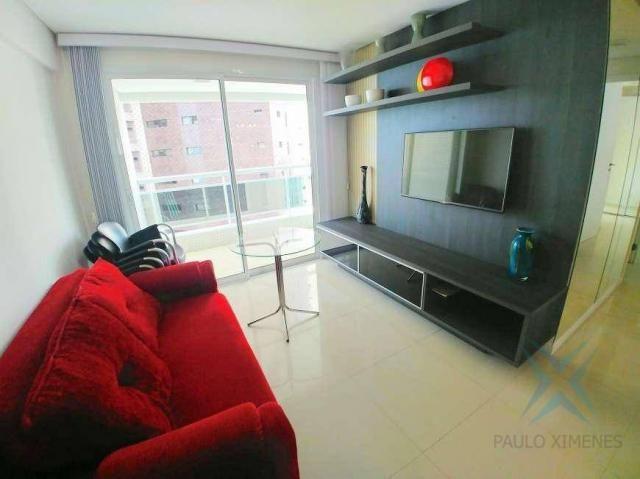 Apartamento com 2 dormitórios à venda, 70 m² por r$ 1.260.000 - meireles - fortaleza/ce - Foto 3