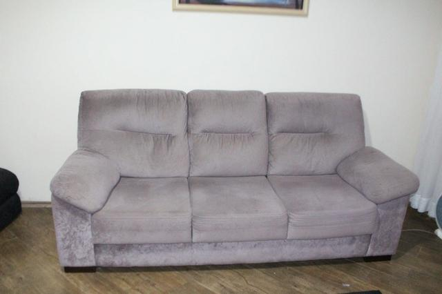 Sofá Cinza c/ Chaise Reclinável 2,17m - Foto 3
