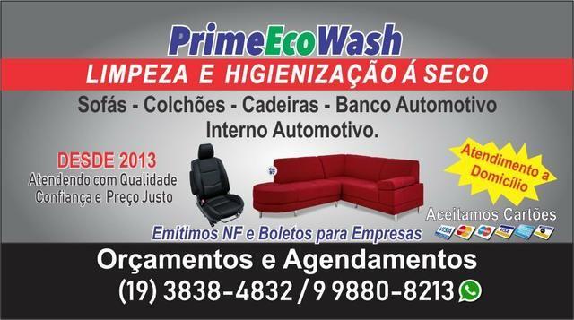 Limpeza e higienização a seco de estofados e automotivo