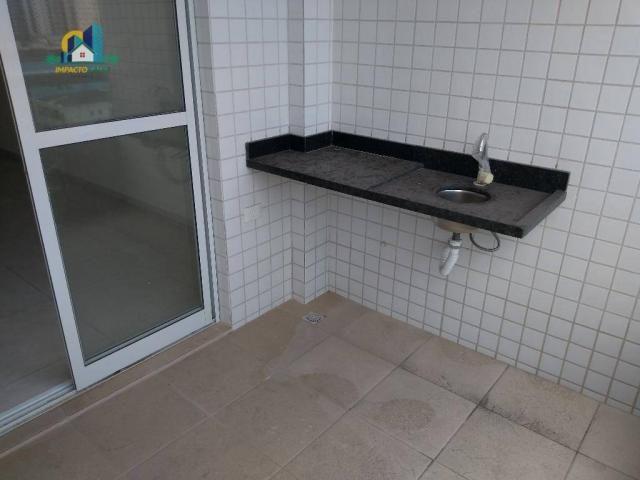 Apartamento residencial para locação, Vila Guilhermina, Praia Grande. - Foto 13