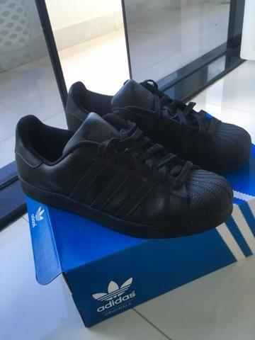 finest selection 7782a 0429e Tênis Adidas Superstar ALLBLACK - TAM 42 BRA