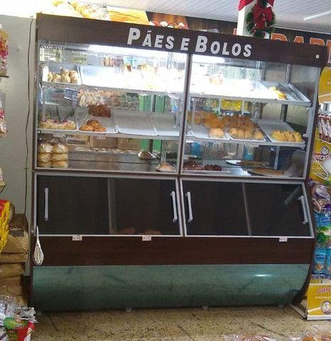 Vasca expositor de pães 2m com iluminação Nova Frete Grátis - Foto 2