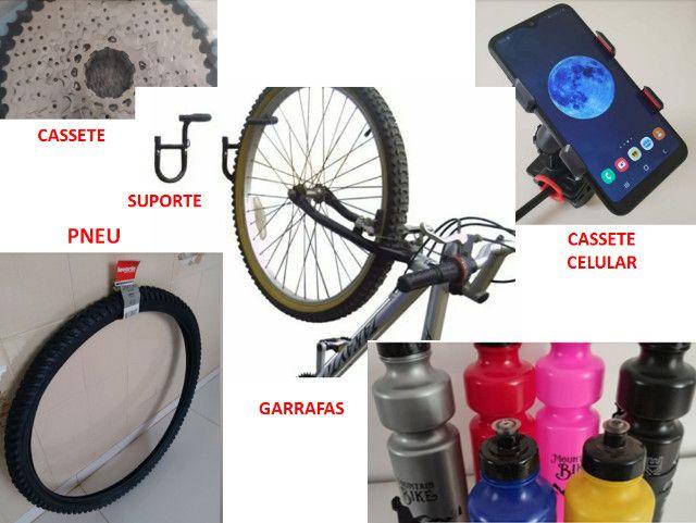 Bicicleta Acessórios, Banco, Roupas, Óculos, Transbike Engate e Porta Malas - Foto 5