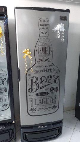Cervejeira de 410 lts porta tipo inox *Arnildo