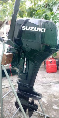 Motor de Popa Suzuki 15 HP - Barco - Foto 4