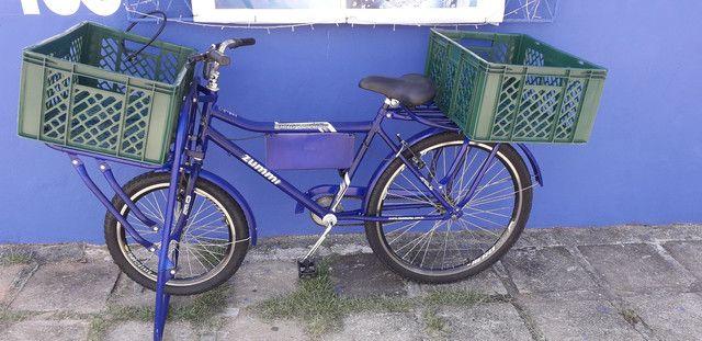 800reais Bicicleta cangueira pra vende 4 messes de uso com nota fical - Foto 2