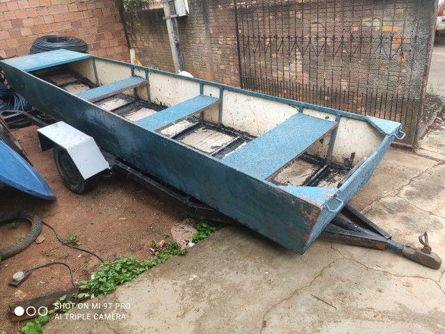 Barco carreta 4 mil barco de chapa de onibus - Foto 3