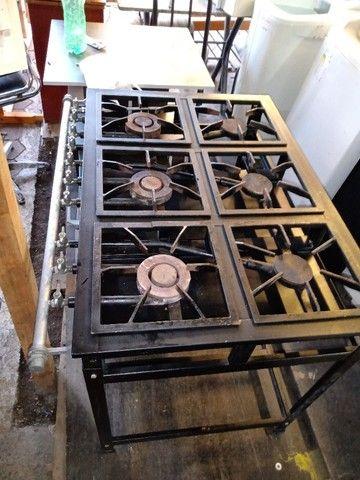 Fogão 6 bocas industrial com forno