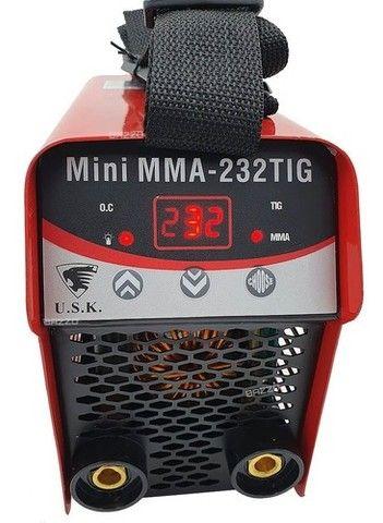 Maquina Solda Inversora Mini 232 Eletrodo Mma Tocha Tig Usk - Foto 2