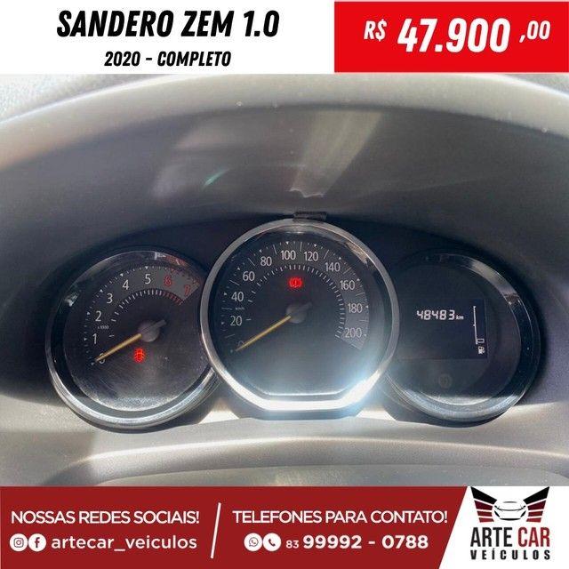 Renalt sandero zem 1.0 completo 2020!! - Foto 5