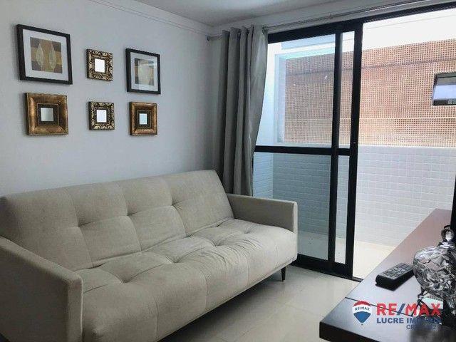Apartamento com 1 dormitório para alugar, 39 m² por R$ 1.900,00/mês - Cabo Branco - João P