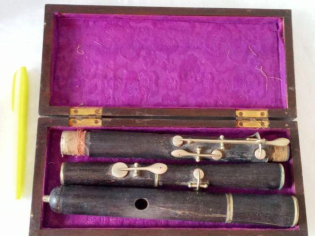 Flauta Antiga Madeira de Ébano