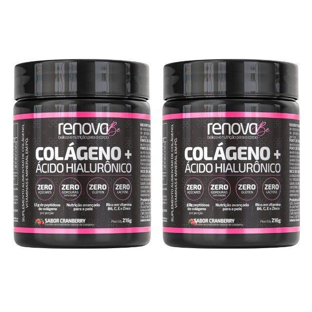 Renova Be Colágeno + Ácido Hialurônico e Vitaminas Para Pele, Sabor Limão e Cranberry  - Foto 5