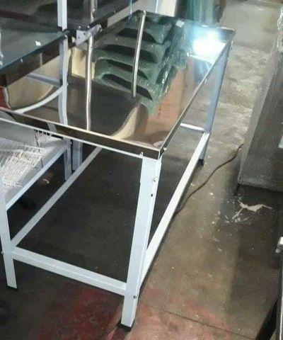 Mesa de manipulação, tampo inox, Nova - 160cmx60