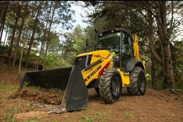 Retro escavadeira New Holland  - Foto 2