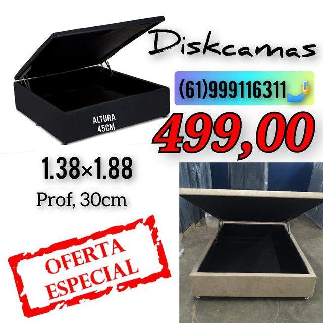 # Diskcamas -- Colchões e cama Box baú e cabeceiras é aqui !!!!  - Foto 2