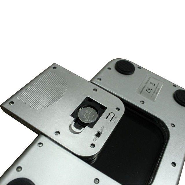 Balança Corporal Digital Vidro Temperado Preta Até 180kg,NOVA/ACEITO TROCAS - Foto 6