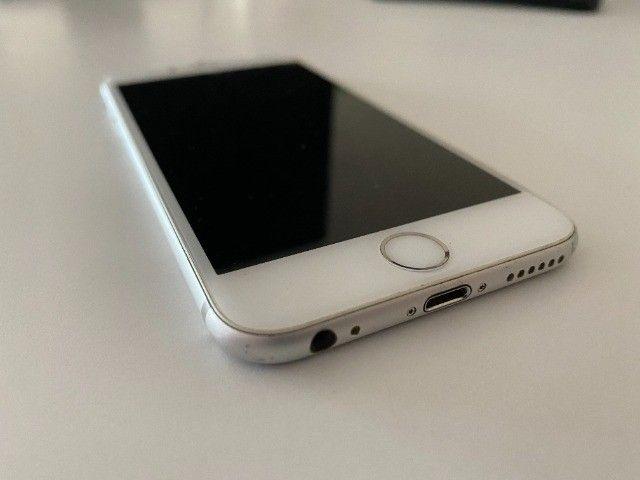 iPhone 6 64gb branco e prata usado