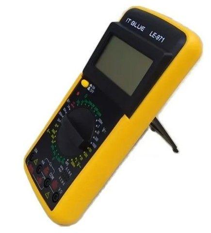 Multimetro Digital Aviso Sonoro Leitor Lcd + Capa It Blue LE-971  - Foto 3