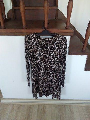 Vestido novo animal print (veste tam. M) - Foto 2