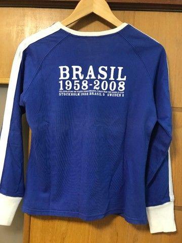 Linda Blusa Nike Seleção Feminino tam. M - Foto 4