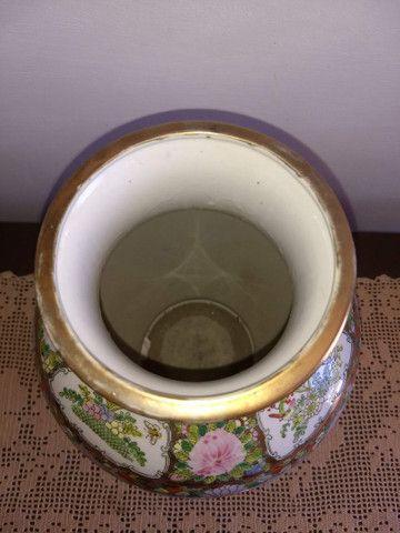 vaso de porcelana chinesa antigo final do século XIX - Foto 4