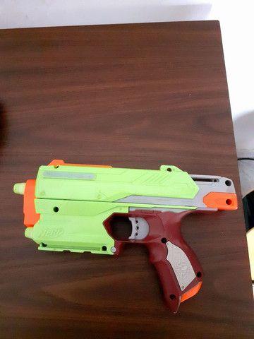Arma Nerf Sidestrike Linha Zumbi - Foto 3