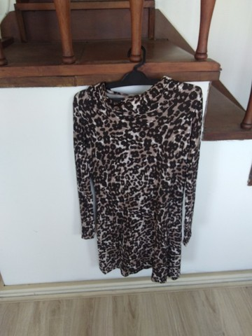 Vestido novo animal print (veste tam. M) - Foto 3