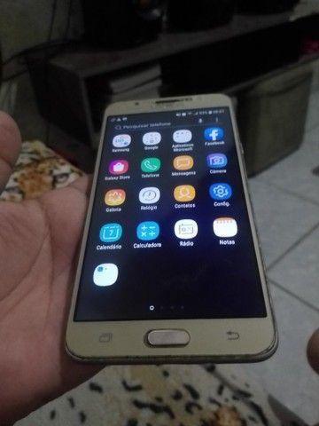 Samsung J7 metal pouco trincado em cima mas todo ok! - Foto 2