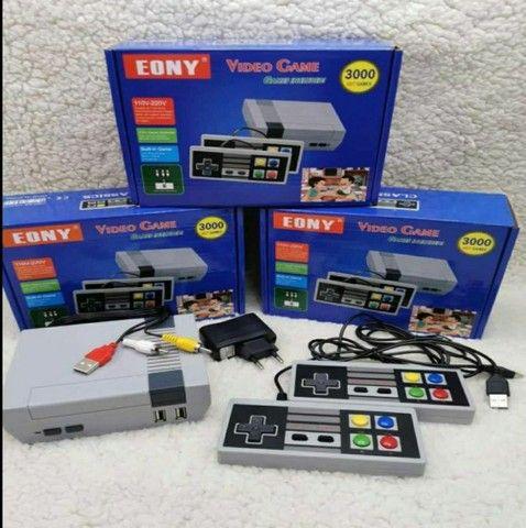 Video Game Eony Mini 3000 Jogos Retro 8 bits 2 Controles