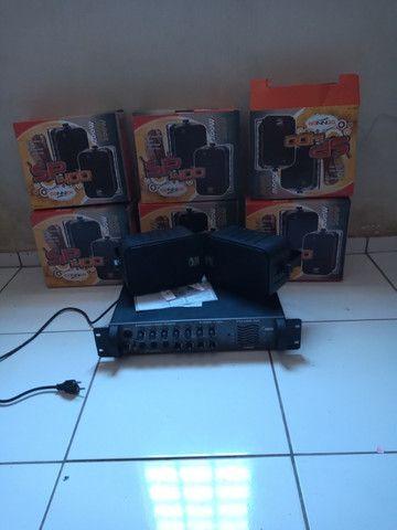Amplificador e caixas acústicas - Foto 2