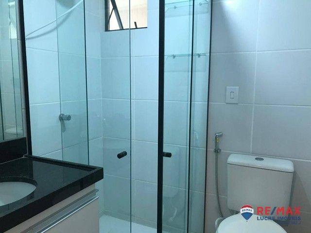 Apartamento com 1 dormitório para alugar, 39 m² por R$ 1.900,00/mês - Cabo Branco - João P - Foto 11
