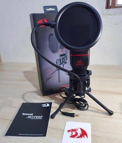 Microfone Redragon Seyfert GM100 XLR de 3.5 mm - Preto / Vermelho - Foto 2