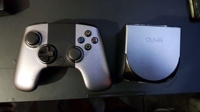 Console OUYA com controle e cartão de memória de 16gb