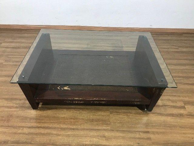 Mesa de Centro com Tampo de Vidro - Foto 3