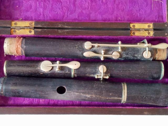 Flauta Antiga Madeira de Ébano - Foto 3