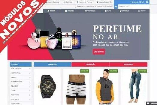 Loja virtual de perfumaria e confecções Completa