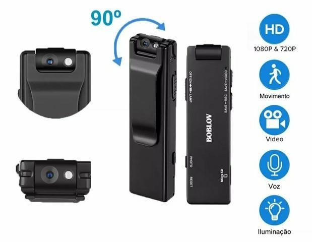 Mini câmera espiã HD filmadora externa corpo 1080 P - Foto 2
