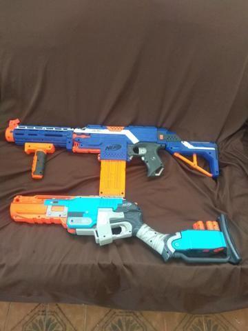 Nerf , 1 é 12 e a outra é uma rifle . - Foto 2