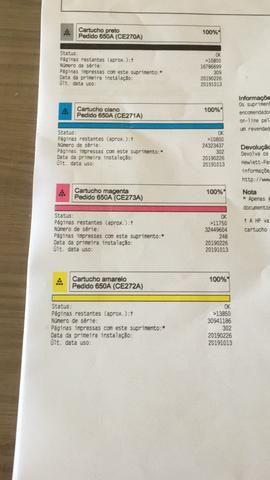 Vendo impressora HP M750 Nova - Foto 4
