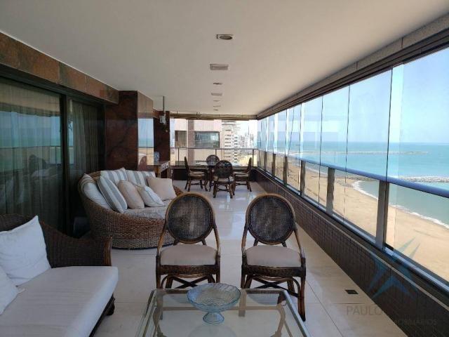 Apartamento alto padrão para alugar, 550 m² por r$ 20.000/mês - meireles - fortaleza/ce